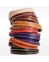 Linea Pelle | Black Double Wrap Stud Bracelet | Lyst