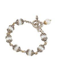 Konstantino | White Single-Strand Pearl Bracelet | Lyst