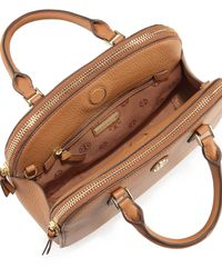 Tory Burch - Brown Robinson Small Pebbled Tote - Lyst