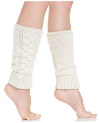 Hue | White Women's Cuff Chunk Cable Legwarmer | Lyst