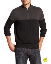 Banana Republic   Black Factory Mock-neck Pullover for Men   Lyst