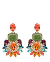 Anton Heunis | Metallic Flower Motif Earrings | Lyst