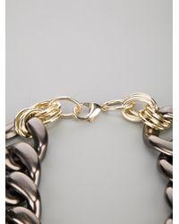 Marina Fossati | Black Oversized Chain Choker Necklace | Lyst