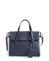 kate spade new york | Blue Holden Street Small Leslie Leather Shoulder Bag | Lyst