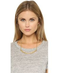Madewell - Metallic Bar Necklace - Vintage Gold - Lyst
