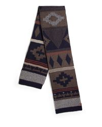Bickley + Mitchell | Blue Fair Isle Lambswool Scarf for Men | Lyst