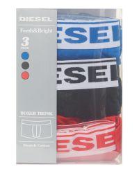 DIESEL - Blue 3 Pack Solid Underwear Trunk for Men - Lyst