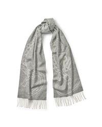 Ralph Lauren - Gray Bridle Wool Scarf - Lyst