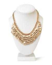 Forever 21 | Metallic Coin Fringe Necklace | Lyst