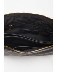 Forever 21 | Black Double-pocket Faux Leather Crossbody | Lyst