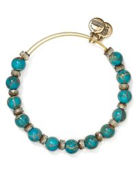 ALEX AND ANI | Blue Carousel Expandable Wire Bangle | Lyst