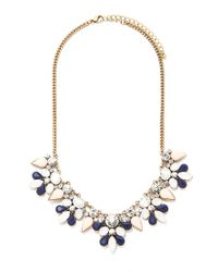 Forever 21 - Blue Faux Gem And Rhinestone Necklace - Lyst