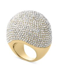 Michael Kors | Metallic Goldtone Pave Bubble Ring | Lyst