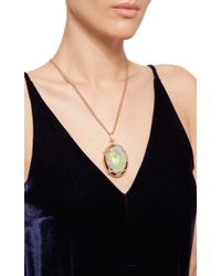 Monica Rich Kosann | Metallic 18k Rose Gold One-of-a-kind Locket With A Crystal Opal And Diamonds | Lyst