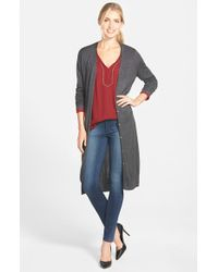 Vince Camuto - Black Long V-neck Cardigan - Lyst