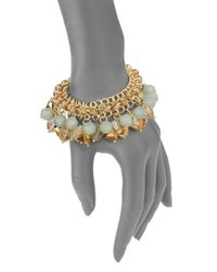 Saks Fifth Avenue - Multicolor Beaded Cluster Chain Bracelet - Lyst