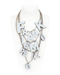 Frankie Morello - Metallic No War Necklace - Lyst