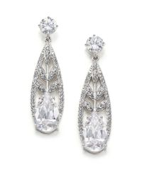 Adriana Orsini | Metallic Wisteria Pave Crystal Teardrop Earrings | Lyst