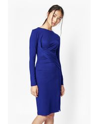 French Connection | Blue Twisted Sister Bodycon Dress | Lyst