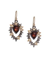 Alexis Bittar | Metallic Elements Muse D'Ore Pyrite & Crystal Two-Tone Pear Drop Earrings | Lyst