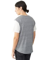 Alternative Apparel | Gray Home Run Eco-jersey Henley Shirt for Men | Lyst