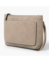 Mango - Gray Pocket Detail Across Body Bag - Lyst