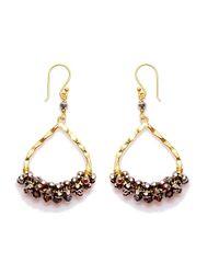 Nakamol | Multicolor Wishbone Earrings-silver Crystal | Lyst
