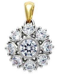 Marchesa | Metallic Diamond Pendant In 18K Gold & White Gold (3/4 Ct. T.W.) | Lyst