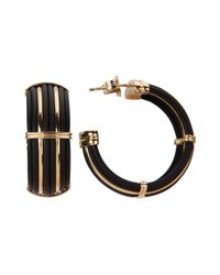 Roberto Coin - Women's Black Polyurethane And 18k Yellow Gold Earrings - Lyst