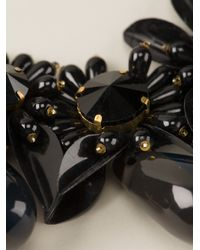 Marni - Black Embellished Ribbon Necklace - Lyst
