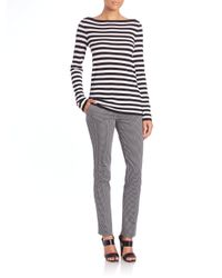 Michael Kors - Multicolor Striped Merino Wool Boatneck Tee - Lyst