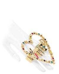 Maria Francesca Pepe - Multicolor Wanted Double Finger Ring - Lyst
