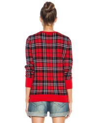 Equipment - Red Shane Scholarly Plaid Wool Sweater - Lyst