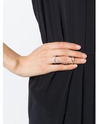 Delfina Delettrez - Metallic Double Loop Diamond Ring - Lyst