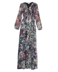Diane von Furstenberg | Black Celia Printed Silk-chiffon Maxi Dress | Lyst