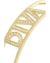 Spallanzani - Metallic Diva 18-Karat Gold Diamond Bracelet - Lyst