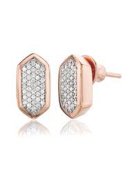 Monica Vinader - Metallic Baja Stud Earrings - Lyst