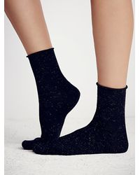 Free People - Black London Glimmer Anklet - Lyst