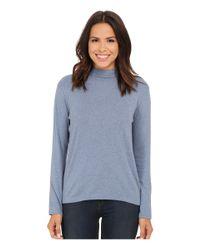 Pendleton | Blue L/s Mock Neck Cotton Rib Tee | Lyst