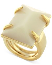 Vince Camuto | Metallic Gold-tone Large Rectangular Stone Ring | Lyst