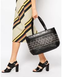 DKNY Active - Black Dkny Studded Tote Bag - Lyst