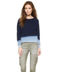 Bliss and Mischief - Blue Carolina Sweatshirt - Dip Dye Indigo - Lyst