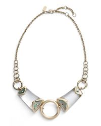 Alexis Bittar - Metallic 'lucite' Center Ring Bib Necklace - Lyst