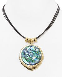 Robert Lee Morris | Blue Abalone Pendant Necklace 16 | Lyst