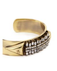 Iosselliani | Metallic Zircon Pavé Brass Arrow Cuff | Lyst