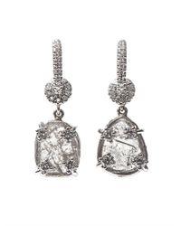 NSR Nina Runsdorf - Metallic Diamondslice Whitegold Earrings - Lyst