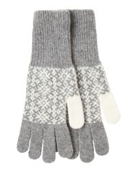 Toast | Gray Lambswool Estonian Jacquard Gloves | Lyst
