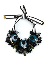 Marni - Blue Chunky Beaded Necklace - Lyst
