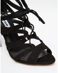 Dune | Mila Black Tie Up Heeled Sandals | Lyst