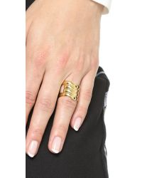 Elizabeth and James | Metallic Ando Ring - Gold Multi | Lyst